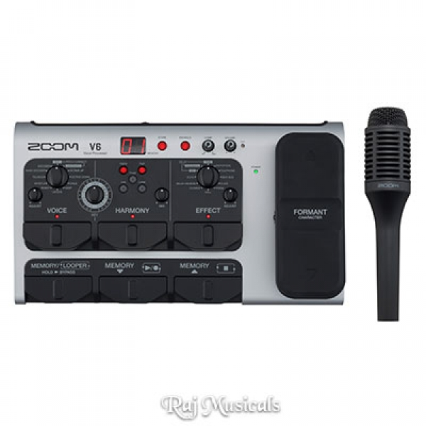 Zoom V6 Multi-Effects Vocal Processor With SGV-6 Shotgun Microphone