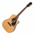 Epiphone AJ-100CE Jumbo Cutaway Electro-Acoustic Guitar EE1CNACH1 - Natural