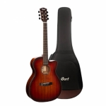 Cort Core-OC ABW Electro-Acoustic Guitar with Deluxe Soft-Side Case - Open Pore Light Burst
