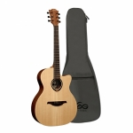 Lag Tramontane T70ACE Auditorium Cutaway Acoustic-Electric Guitar
