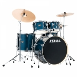 Tama Imperialstar IE52KH6W 5-Piece Acoustic Drum Kit - Hairline Blue